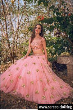Trendy Pink Net Embroidery Work Circular Lehenga Choli 2294-LW_9481 color Pink