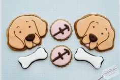 decorated cookies puppy dog