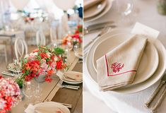 Gorgeous rustic red event styling.