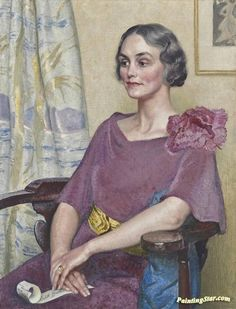 View Portrait of Edith Broster, seated three-quarter length, in a pink dress by Dame Laura Knight on artnet. Browse upcoming and past auction lots by Dame Laura Knight. Muse, Dress Painting, Leila, Knight Art, English Artists, Art Prints For Sale, Illustrations, Canvas Art Prints, Female Art
