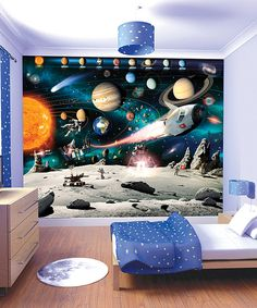 Look at this Space Adventure Mural on #zulily today!