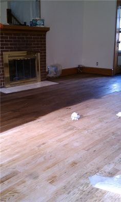 how to stain hardwood floors, at home, how to redo hardwood floors, staining hardwood floors, walnut, diy project, hous, blog, diy home