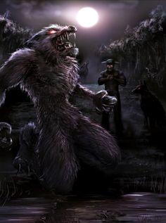 werewolf commission by dypsomaniart on deviantART