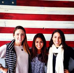 Great minds think alike, our Marketing team in navy and white   Thanks for the patriotic backdrop @HeritageBrews