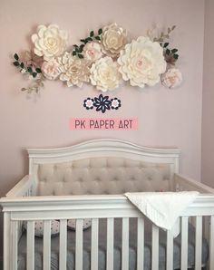Large Paper Flowers, Giant Flowers, Paper Flower Wall, Paper Flower Backdrop, Flower Wall Decor, Hobby Lobby Flowers, Hobby Lobby Decor, Baby Shower Backdrop, Flower Nursery