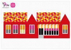 #Paper #Toy #House par Solange ABAZIOU pour Le Quai Angers - Paper House – Maison de papier – Modèle 7 - http://soyou.fr/