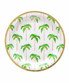 Palm Tree Plates (Small)