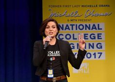 Lana Parrilla at MTV's 2017 College Signing Day With Michelle Obama ❤ in New York. (05/05/17)