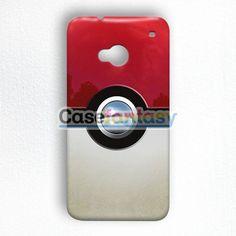 Retro Chrome Pokeball HTC One M7 Case | casefantasy