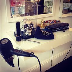 The kit at my hairdressers, Barney Martin Hardressing in Surry Hills in Sydney. #skull #ghd #ghdair #hairdresser
