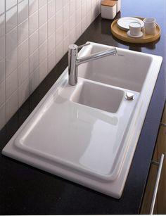 wei e elegante sp le edelstahl k chentheke kitchen. Black Bedroom Furniture Sets. Home Design Ideas