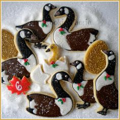 """""""On the 6th Day of Christmas my friends I give to thee: Six Geese-a-Laying..."""" Glazed Sugar Cookies by Robin Traversy {The Cookie Faerie}. Cookie Connection Christmas Countdown Challenge."""