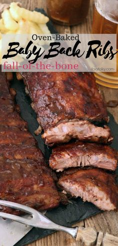 You bake these baby back ribs in oven with beer and some simple spices until it becomes so tender and juicy that they literally fall-off-the-bone. Effortlessly delicious and perfect for indoor barbecue parties. Oven Cooked Ribs, Oven Pork Ribs, Baby Back Pork Ribs, Baked Ribs, Ribs On Grill, Simple Baby Back Ribs Recipe, Baking Ribs In Oven, Grilled Baby Back Ribs, Pork Rib Recipes