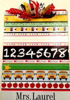 Teacher Clipboard by Slimdigm on Etsy, $20.00
