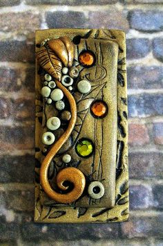Polymer clay pendant bead by MandarinMoon, via Flickr