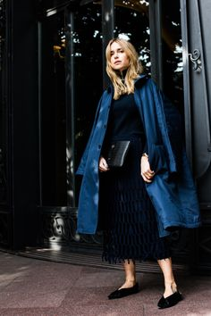 Pernille Teisbaek on vogue.com wearing leowulff 'BARON' clutch for milan fashion week. #leowulff