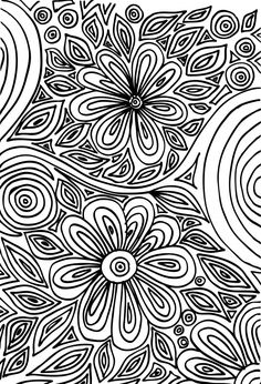 Intricate designs in coloring pages help your child develop their find motor skills and attention to detail. This free and printable coloring page is a resource worth holding on to! #flower #art #therapy