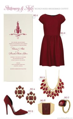 Stationery & Style: Richly-Hued Bridesmaid Outfit