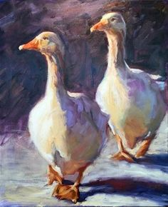 """Daily Paintworks - """"Not All Its Quacked Up To Be"""" - Original Fine Art for Sale - © Jenny Buckner"""