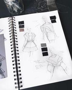 fashion sketchbook Fashion sketches sketchbooks ideas 17 new ideas Portfolio Mode, Book Portfolio, Fashion Illustration Portfolio, Fashion Design Portfolio, Illustration Mode, Fashion Design Drawings, Fashion Sketches, Drawing Fashion, Portfolio Ideas