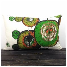 Vintage 1950/60s French Fabric Lumbar Pillow Cover  12 by Retro68, £22.00