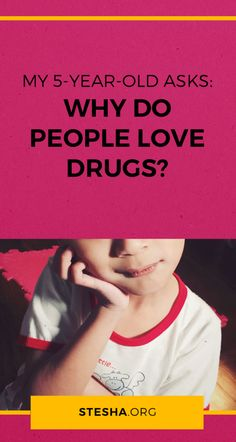 """""""Why do people love drugs sometimes?"""" — stesha.org  My kid's asking questions about drugs. How do I explain why people enjoy love drugs in a way my preschooler can understand? Here's what I said and how I answered (in live and spontaneous audio format! + transcript). Questions To Ask, This Or That Questions, Love Drug, Why Do People, 5 Year Olds, Explain Why, Drugs, Preschool, Audio"""