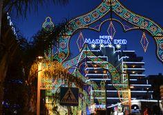 Luces calle l'Antina Marina d'Or. Hotel Marina d'Or 4*.