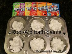 Momma's Fun World: Scented bath paints