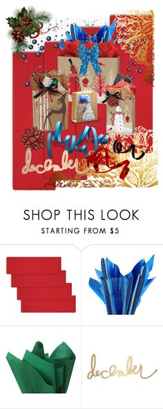 """""""Don't Open Until December 25th"""" by aurorasblueheaven ❤ liked on Polyvore featuring interior, interiors, interior design, home, home decor, interior decorating, Improvements, Papyrus and Heidi Swapp"""