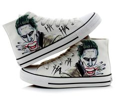 Suicide Squad Harley Quinn Joker Unisex Canvas Lace Up Flat Skate Casual Sneaker Boots Harley Quinn Cosplay, Joker And Harley Quinn, Casual Sneakers, High Top Sneakers, Joker Costume, Daddys Lil Monster, Sneaker Boots, Lace Up, Mens Fashion