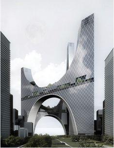 eVolo's 20 Most Innovative Skyscrapers | Cloucity / Juerg Burger, Ge Men, Qingchuan Yang, Yin Li, Wei Hou. Image Courtesy of eVolo [Futuristic Architecture: http://futuristicnews.com/category/future-architecture/]