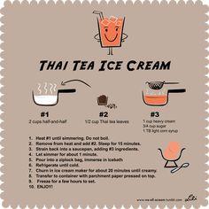Thai tea ice cream recipe // This recipe is quite similar to the Oolong Tea recipe. I used CTF brand Thai tea which has a freakish amount of orange food coloring in it.