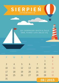Calendar page - August on Behance