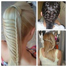 Fancy braids (look impossible! Prom Hairstyles For Long Hair, Weave Hairstyles, Pretty Hairstyles, Girl Hairstyles, Amazing Hairstyles, Casual Hairstyles, Wedding Hairstyles, Hairstyle Ideas, Bridesmaid Hairstyles