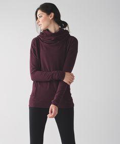 lululemon iconic sweater wrap heathered medium grey