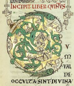 Moralia in Iob Illuminated Letters, Illuminated Manuscript, Anglo Saxon, Initial Letters, Handmade Books, Book Binding, Oeuvre D'art, Les Oeuvres, Medieval