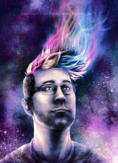 markiplier fan art. This is SO COOL!! Source: http://markiplier-fans.deviantart.com/art/Markiplier-Portrait-Inter-dimensional-594709359