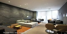 BoConcept Carmo sofas and Veneto chairs in The State Tower, Seoul, South Korea