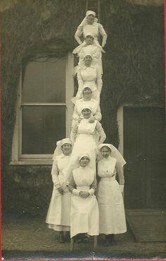 Nurses up a ladder! | Flickr - Photo Sharing!