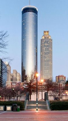 Downtown Atlanta - The Peachtree Plaza - Get a view of the whole city from the Sun Dial Restaurant. #LocalMatterz #Peachtree Plaza