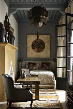 Dark | modern | global style | interiors                                                                                                                                                      More