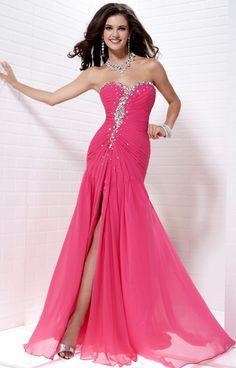 Tiffany 16674 strapless Fuchsia Size 20 prom dress, evening dress, flattering Fit n flare