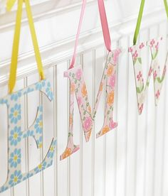 Colorful nursery letters allow you to spell out your child's name on the wall in a creative and pretty way!
