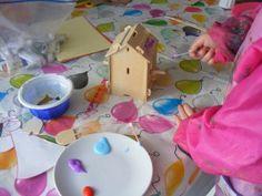 Vogelhuisje verven #kids craft knutselen #watdoetvanessanu #zelfmaken #diy