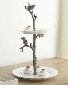 Vagabond House Bird Two-Tier Dessert Stand from Horchow. Saved to Horchow. Shop more products from Horchow on Wanelo. Tiered Dessert Stand, Dessert Plates, Cake Plates, Serveware, Tableware, Decoration Table, Home Decor Accessories, Bunt, Neiman Marcus