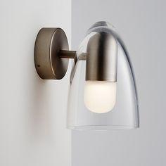 Applique LED Salle de bains Funk Acier brossé H.18cm 5W - CASTORAMA