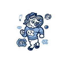 Rameses North Carolina Tar Heels Mascot Wall Decal >>> Check this awesome product by going to the link at the image.