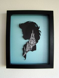 Disney Frozen Elsa and the Ice Palace HandCut Paper Framed 3D by TheShadowStudio