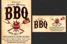 Bbq Wars Flyer Template By Flyerheroes On Creativemarket  Flyers