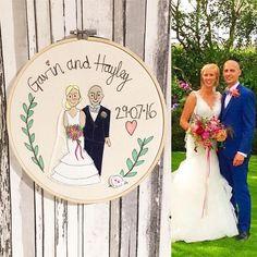 Personalised Anniversary Gift Wedding Portrait Cotton